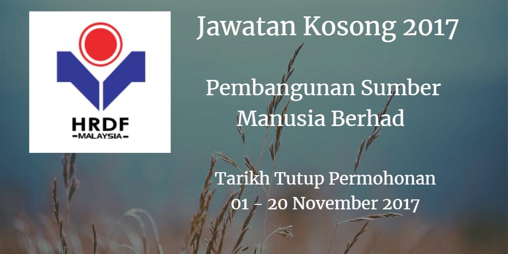 Jawatan Kosong Pembangunan Sumber Manusia Berhad 01 - 20 Disember 2017