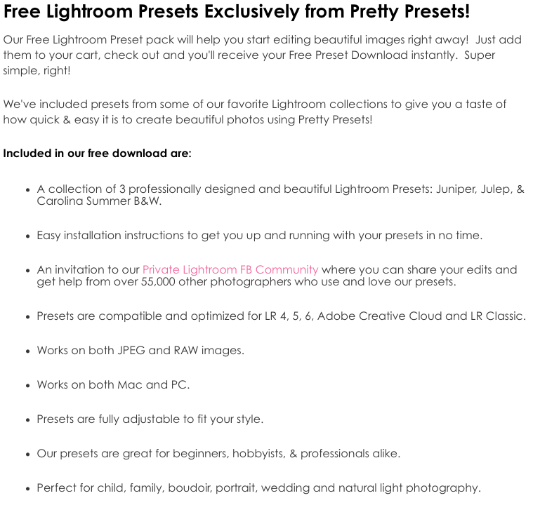 The CoffeeShop Blog: Pretty Presets and Pretty Action FREEBIES!