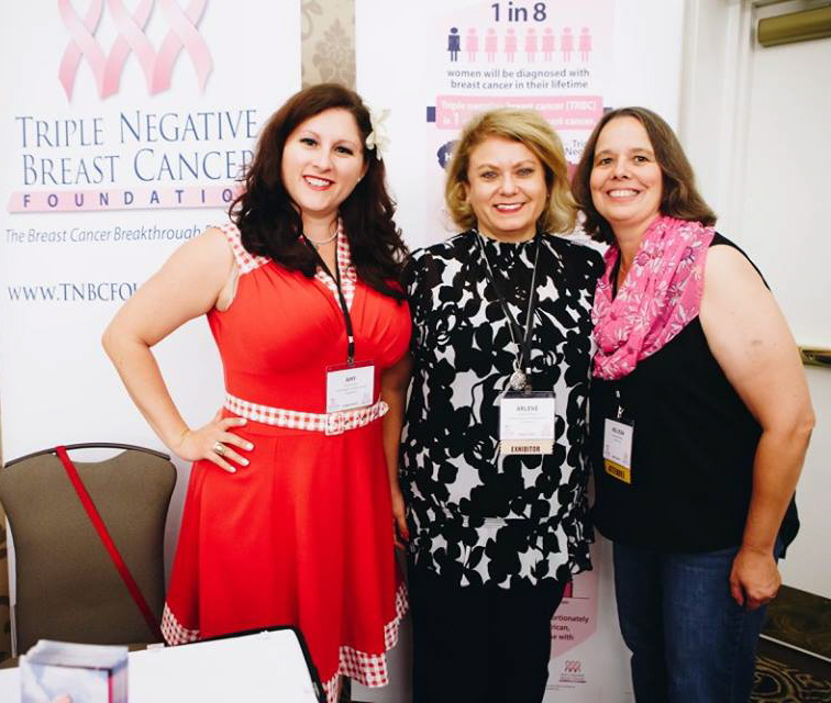 Amy and Arlene of TNBC Foundation and me