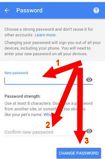 change password akun google