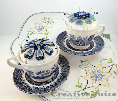 May Flowers with Eileen Hull – Embroidered Teacup Pincushions