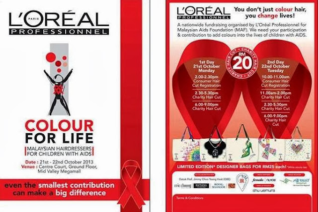 L'Oreal Professionnel, charity, L'Oreal Professionnel Colour for Life 2013, Datuk Jimmy Choo, Royal Selangor, Tom Abang Saufi, Eric Choong, Winnie Sin, Malaysian Aids Foundation, children infected affected by HIV, charity hair cut drive