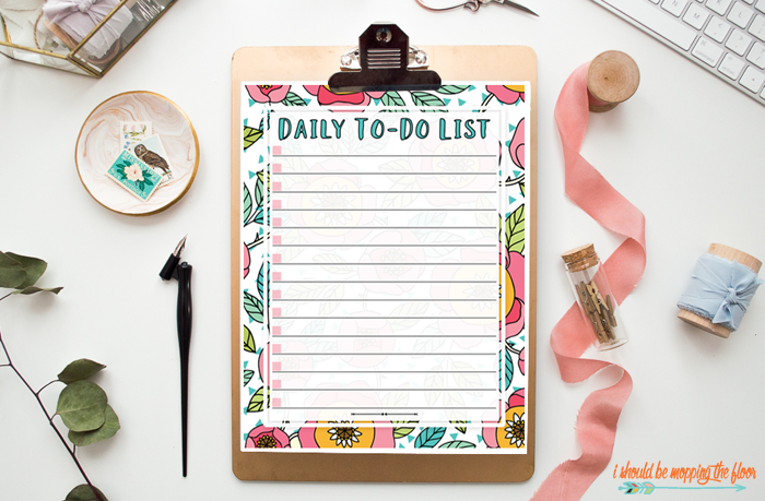 Daily To Do List Printable