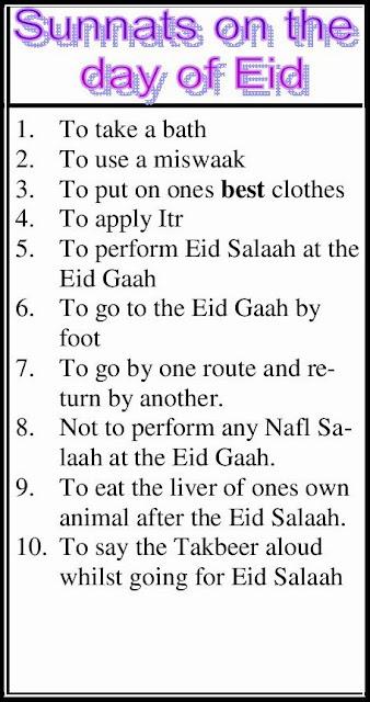 Sunnats On The Day Of Eid, Eid K Din Ki Sunnatain Eid-Ul -5236
