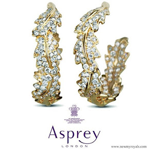 Kate Middleton wore Asprey Oak leaf earrings