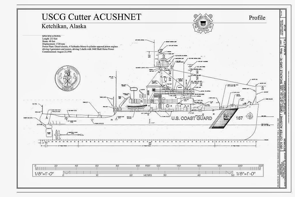 The Model Shipwright: Free Ship Plans USCG Cutter Acushnet