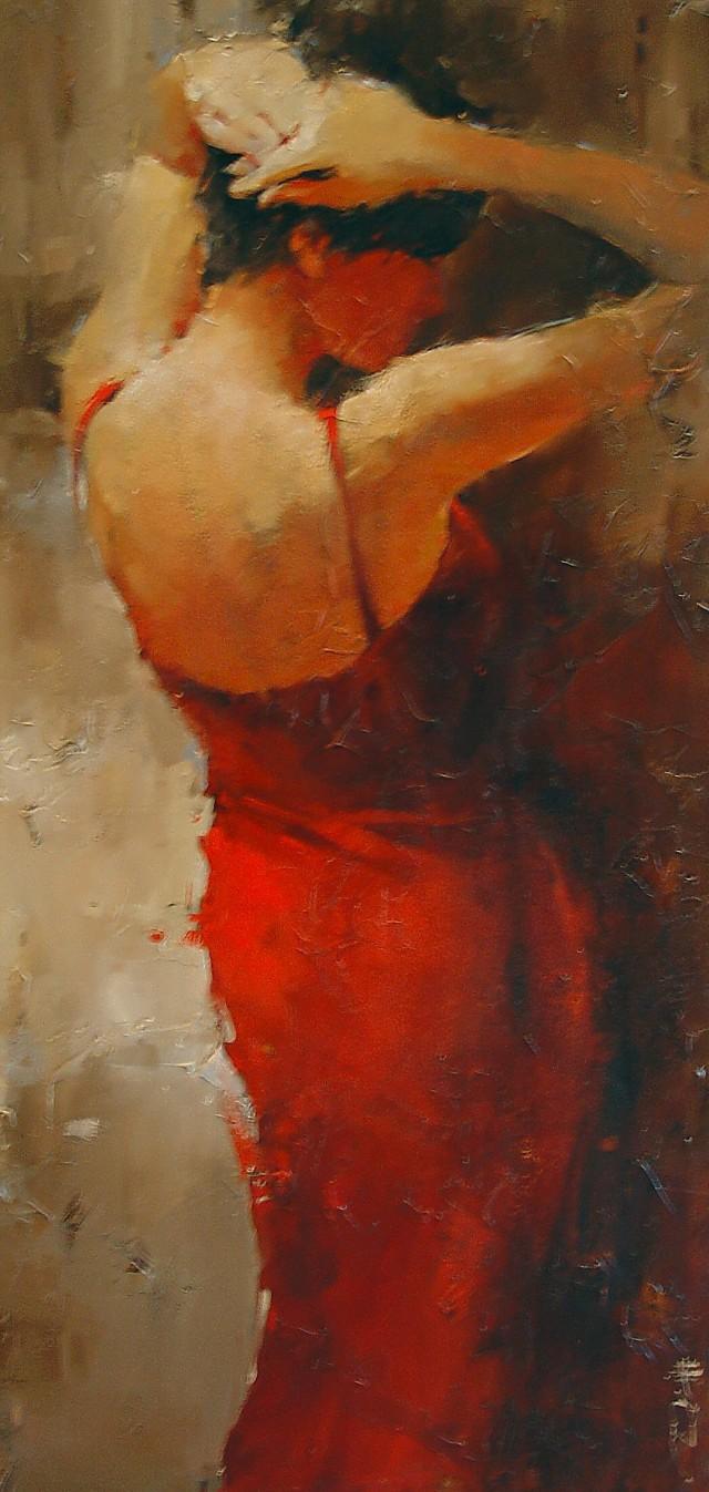 Andre Kohn 1972 | Russian-born Figurative Impressionist painter | Ladies and hats
