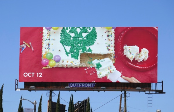 Romanoffs birthday cake teaser billboard