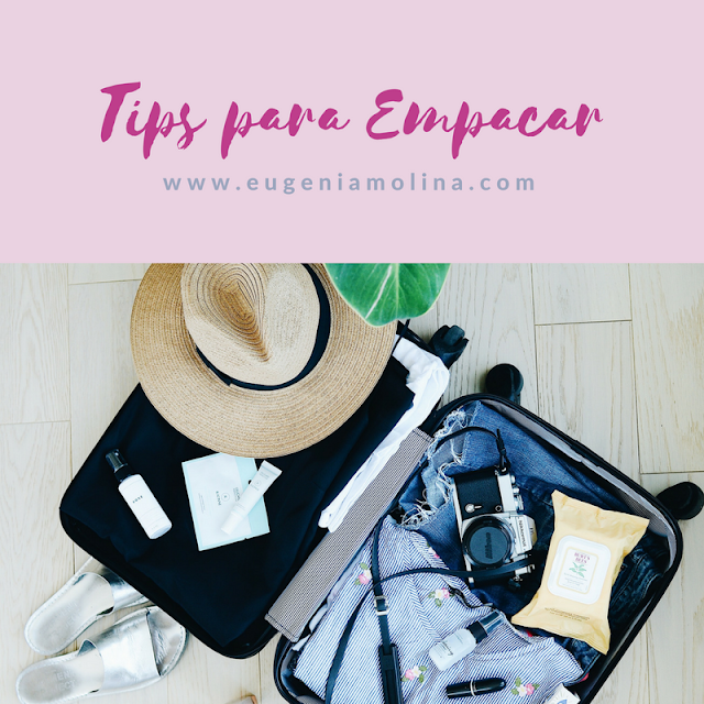 tips para empacar la maleta