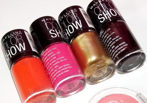 Maybelline Color show nail paint Wine & Dine Bold Gold