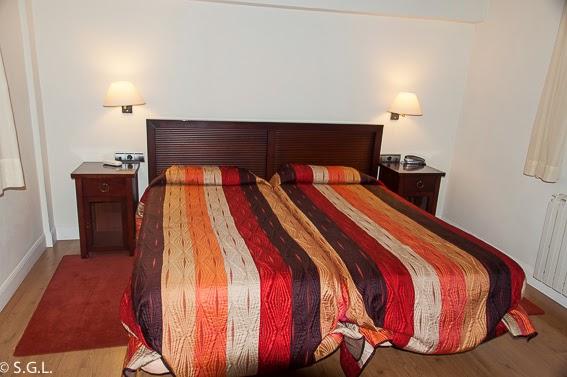 Habitacion del hotel Palacete en Hondarribia. Cenar y dormir en Hondarribia