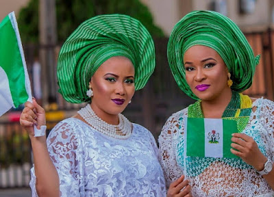 nigerian celebrities green white nigeria