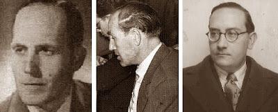Los ajedrecistas Àngel Ribera, Juan Sola López y Dr. Josep Vallvé