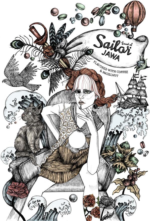 Lindalovisa Fernqvist art for Good ol sailor jawa