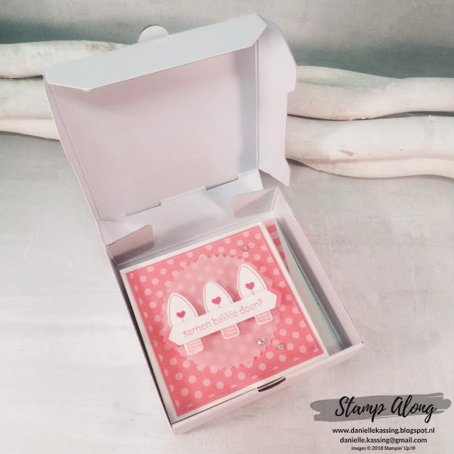 Stampin' Up! Mini Pizza Box demodag