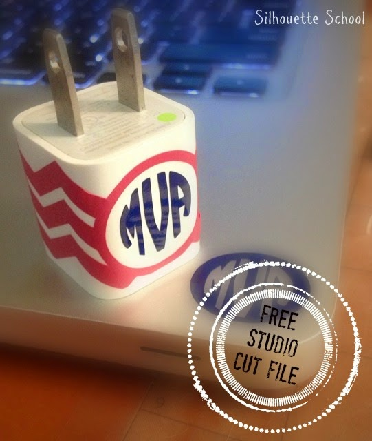 Silhouette Studio, free cut file, chevron cell phone charger wrap
