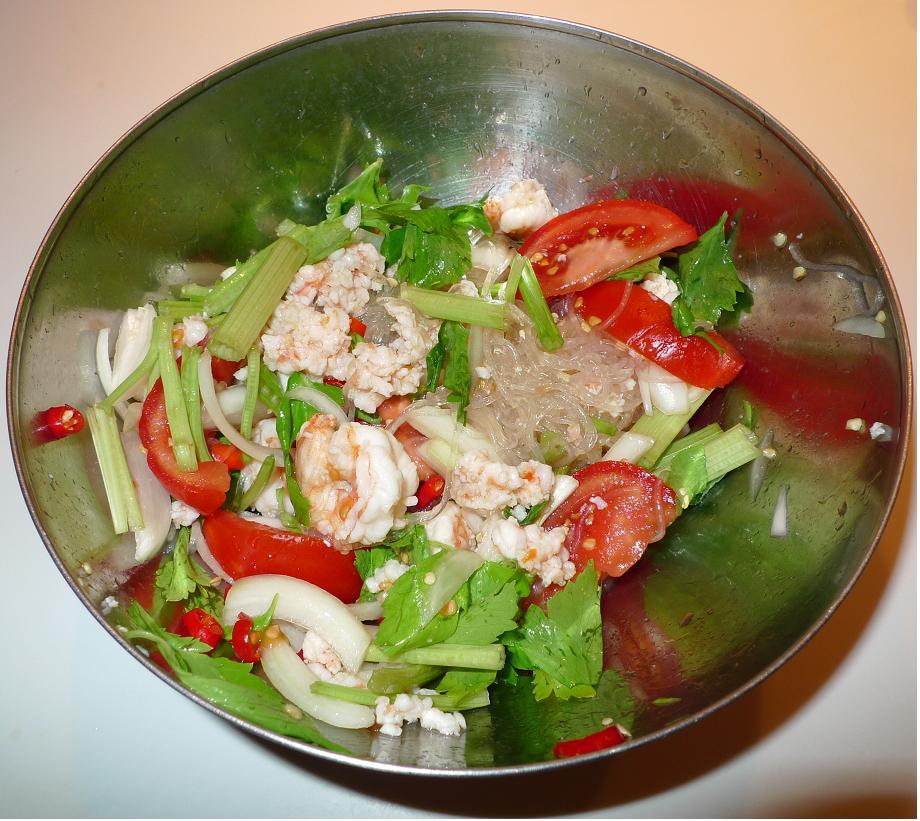Thai Kitchen Chester: Amporn's Thai Kitchen: Thai Mung Bean Noodle Spicy Salad
