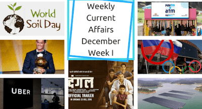Weekly Current Affairs December: Week I