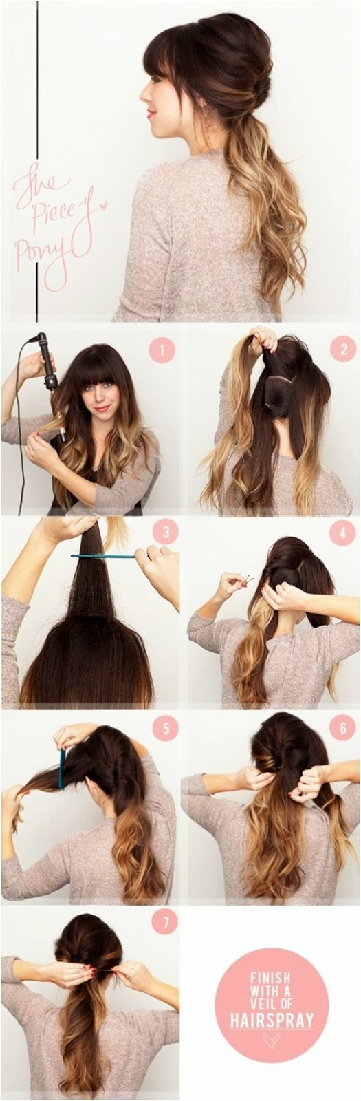 5 Cute and Easy Ponytail Hairstyles Tutorials