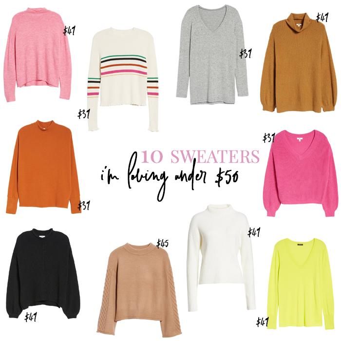 ten sweaters under $50
