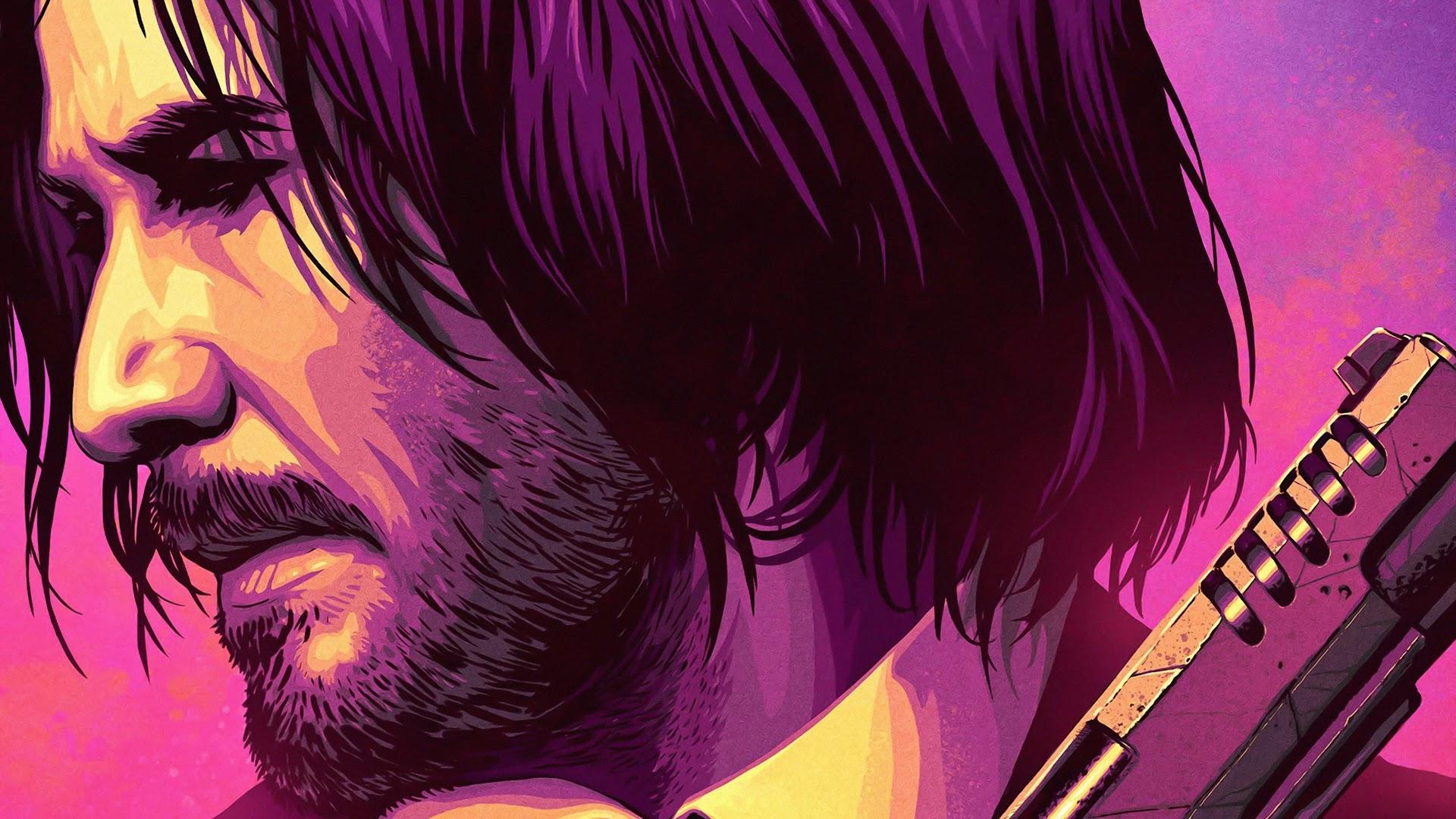 John Wick 3, Keanu Reeves, Art, 4K, #24 Wallpaper