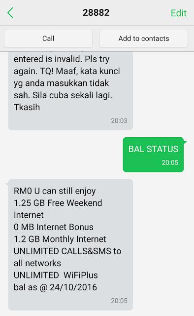 Semak Baki Internet Celcom Dengan Cara SMS