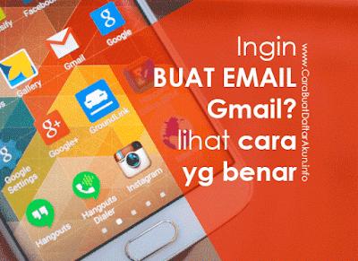 langkah buat email Gmail baru lewat hp