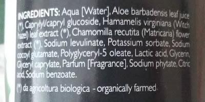 Acqua Micellaire Aloe Vera Phytorelax ingredientes