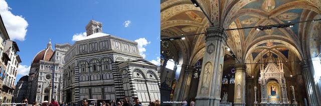 Viaje a Florencia: Baptisterio de San Giovanni con la catedral de fondo, interior de la iglesia Orsanmichele