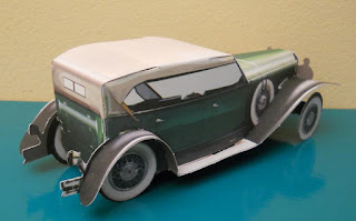 coche de papel duesemberg