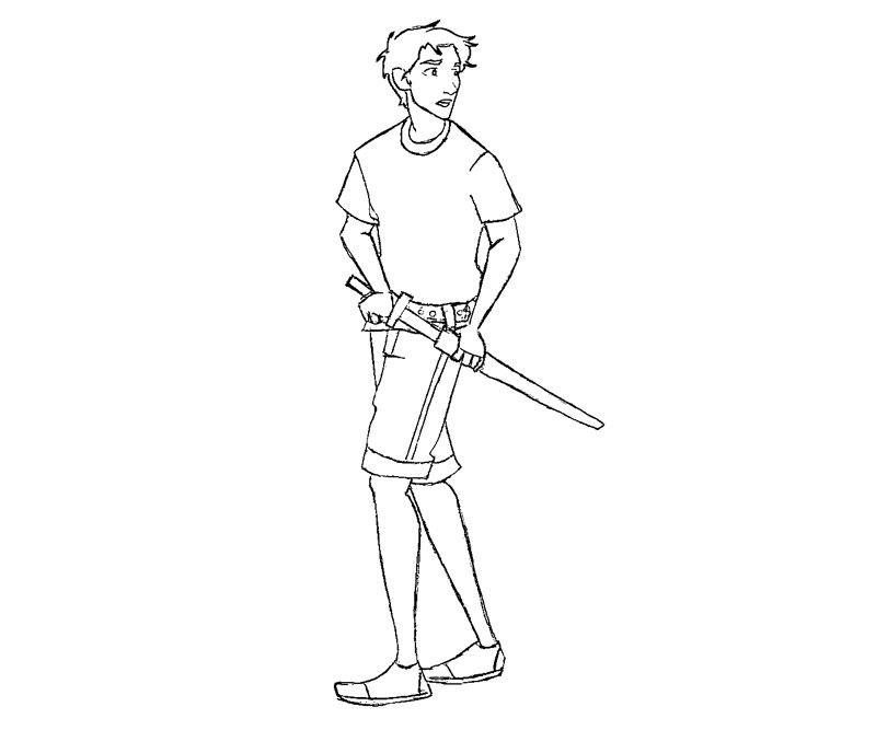Free coloring pages of percy jackson