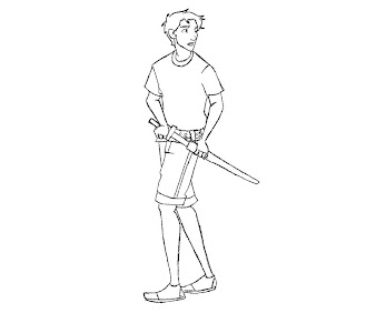 #4 Percy Jackson Coloring Page