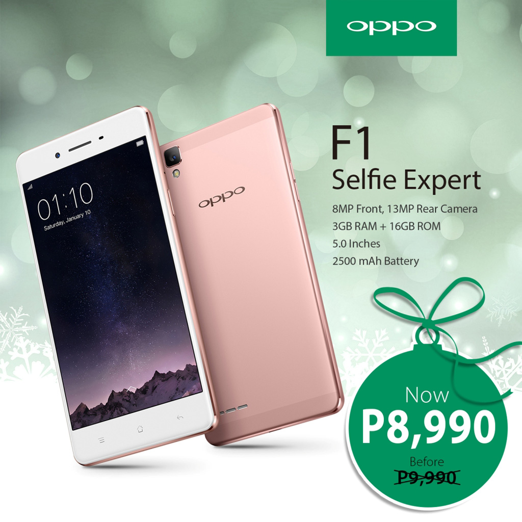 OPPO F1 gets another price cut this Christmas