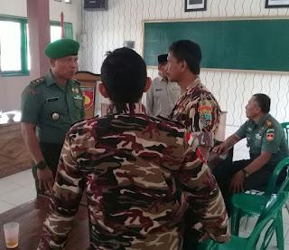 Dandim 0736/Batang Menyelenggarakan Komsos dengan Anggota FKPPI Usai Upacara Bendera 17- an, yang Diwakili Kasdim