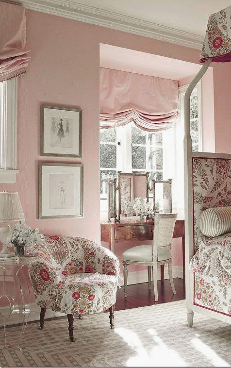 Eye For Design: Decorating Grown Up Pink Bedrooms