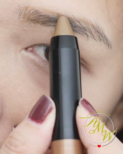 a photo on how to use  Maybelline FashonBrow Pomade Crayon BR-4 Review