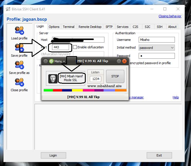 Cara internet gratis proxifier inject dan bitvise