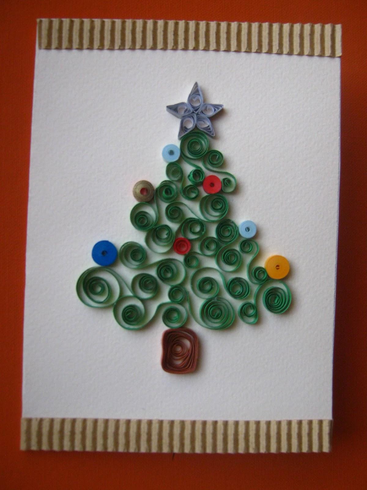 Albero Di Natale Quilling.Piccolomondoantico Biglietto Albero Di Natale A Quilling