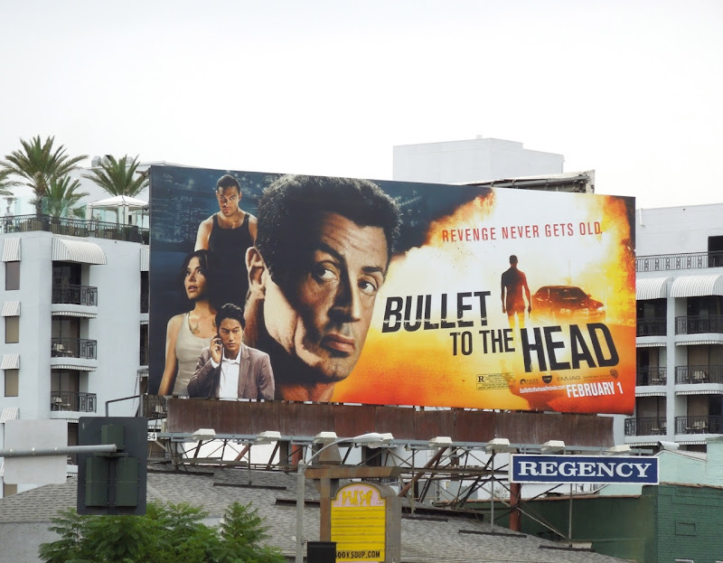 Bullet to the Head movie billboard