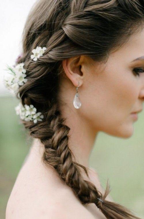 HERMOSO PEINADO DE NOVIA CON TRENZAS YouTube - peinados para novias con trenzas