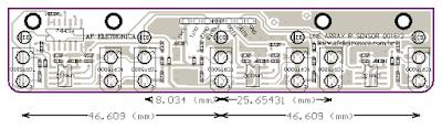 Módulo Seguidor de Linha Line Array Sensor TCRT5000