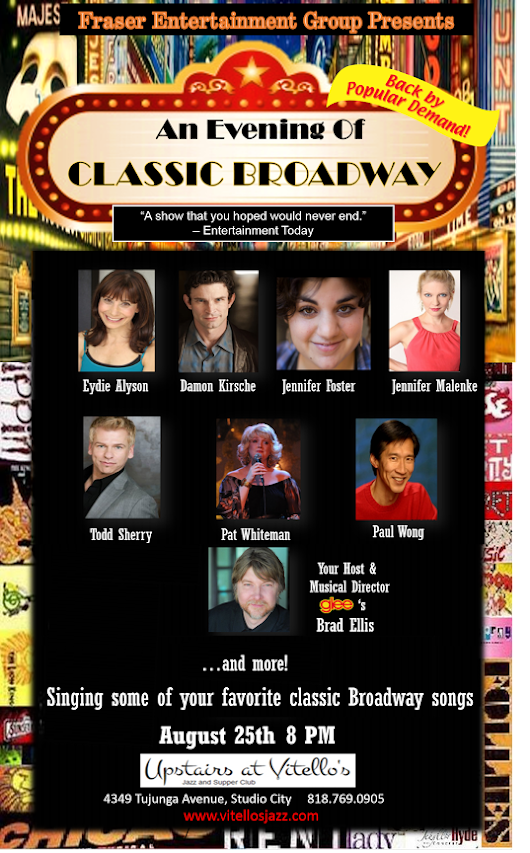 AUG 25: An Evening of Classic Broadway hosted by Brad Ellis - Upstairs at Vitello's