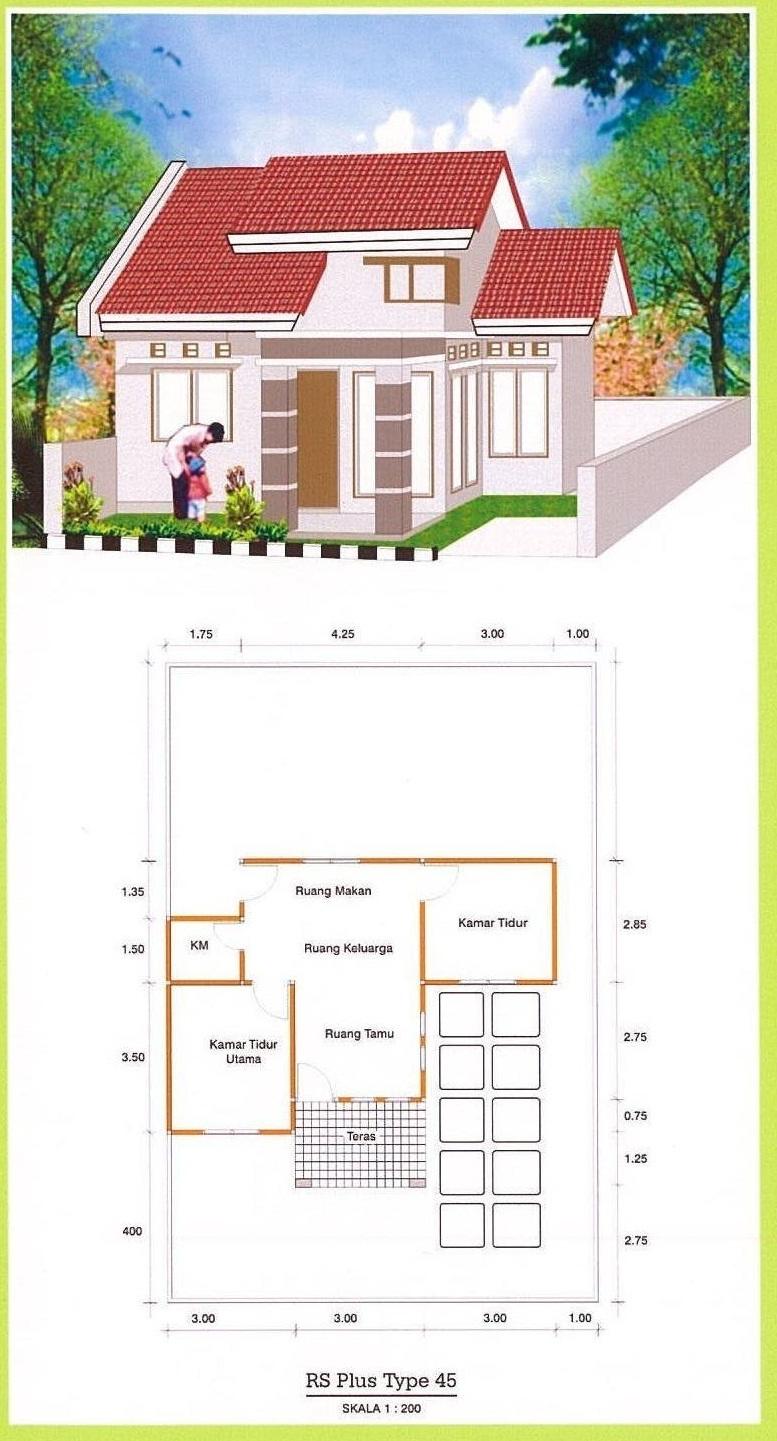 Gambar Denah Rumah Type 45 Dan Ukurannya Freewaremini