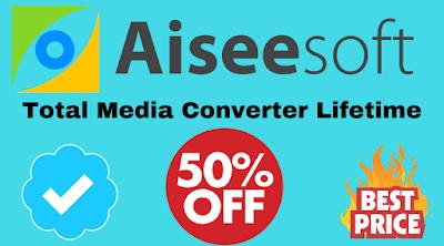 aiseesoft total media converter lifetime discount coupon code, registration code