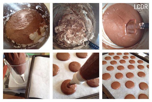 Receta de macarons de chocolate 03