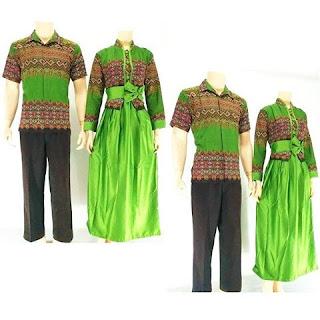 batik-pasangan-juwita-gamis-muslim-hijau