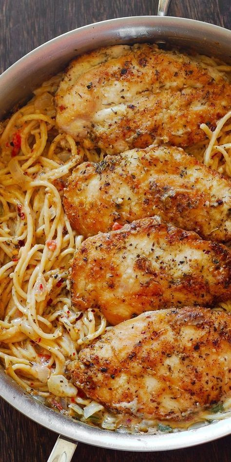 CHICKEN PASTA IN CREAMY WHITE WINE PARMESAN CHEESE SAUCE - RECIPES DIARIES