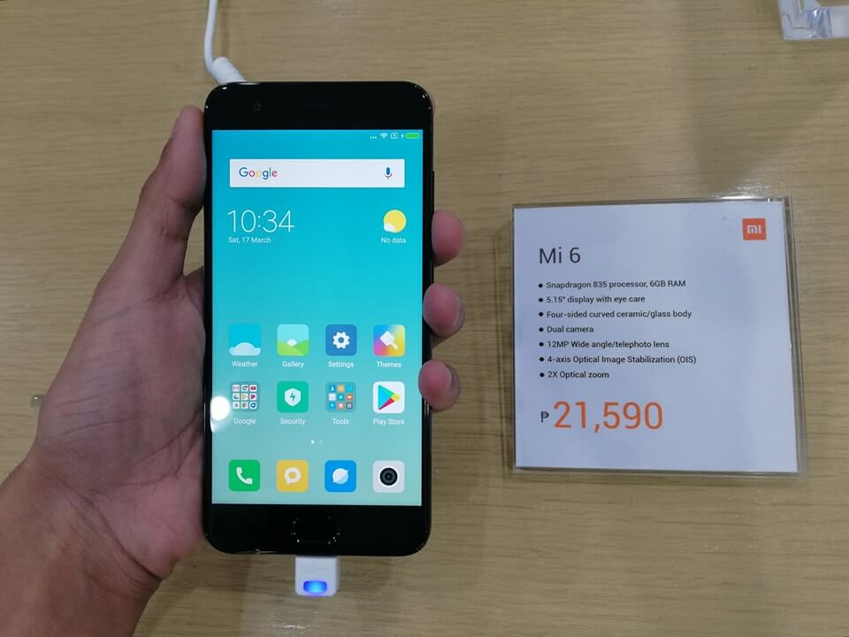 Xiaomi Mi 6 Arrives in PH; Snapdragon 835, 6GB RAM and Dual Camera for Php21,590