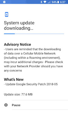 Nokia 8 May 2018 Android Security Update