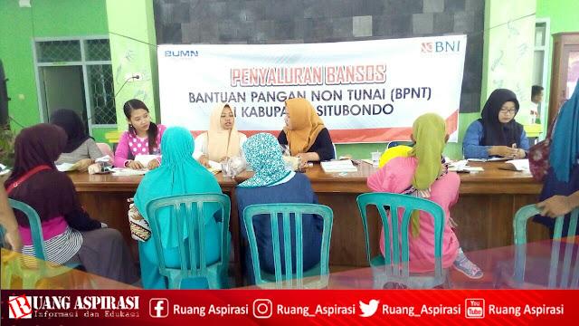Penyaluran Bansos Bantuan Pangan Non Tunai (BPNT) Di Kecamatan Sumbermalang - Situbondo